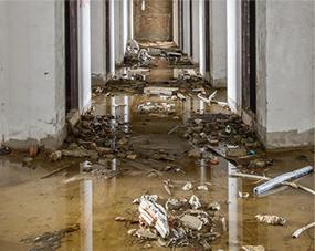 flooded hallway